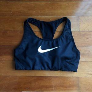Black Nike Victory Shape Dri Fit Sports Bra || S